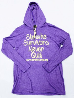 T-Shirt - Lightweight Long Sleeve Hooded Heather Purple